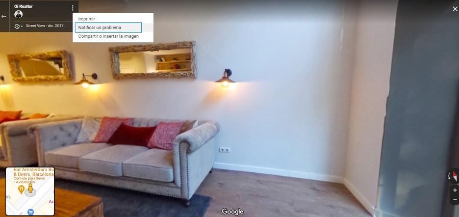 Notificar casa o establecimiento en Google Street View