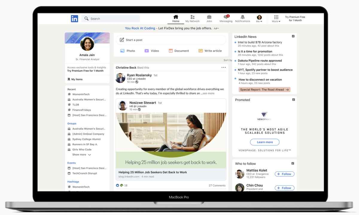 LinkedIn presenta nuevo diseño e Historias