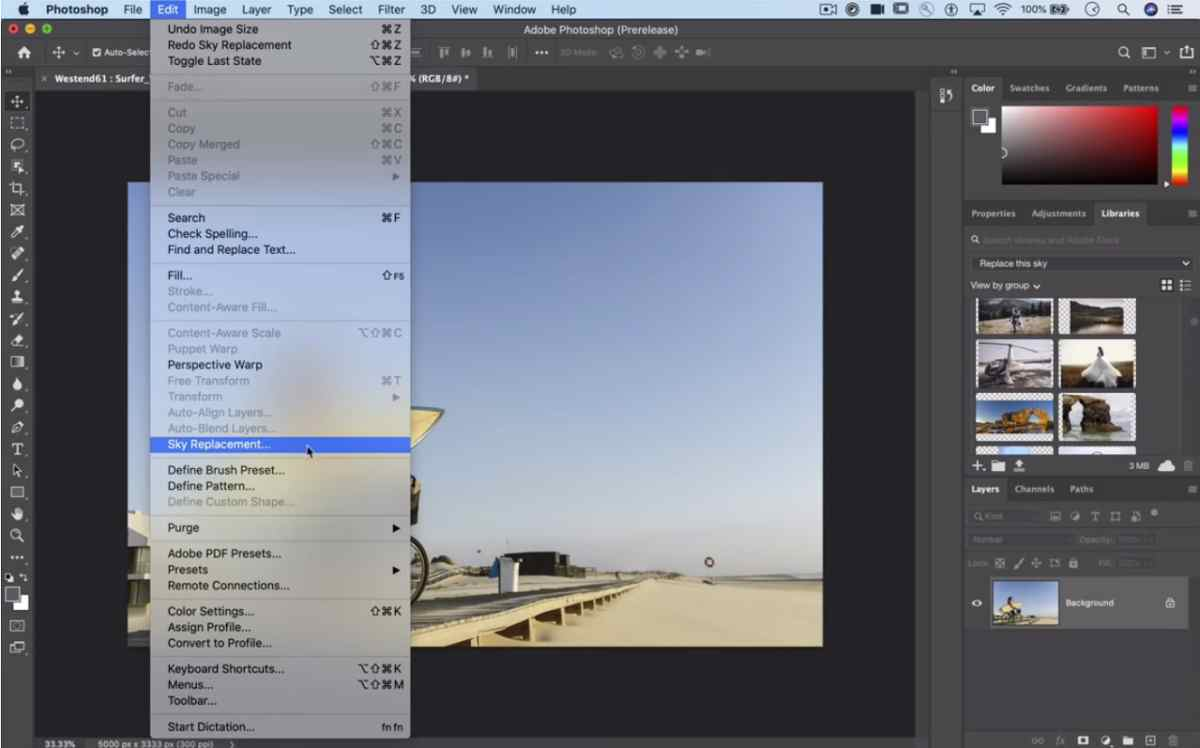 Adobe ofrece un adelanto de su nueva herramienta de reemplazo de cielo para Photoshop
