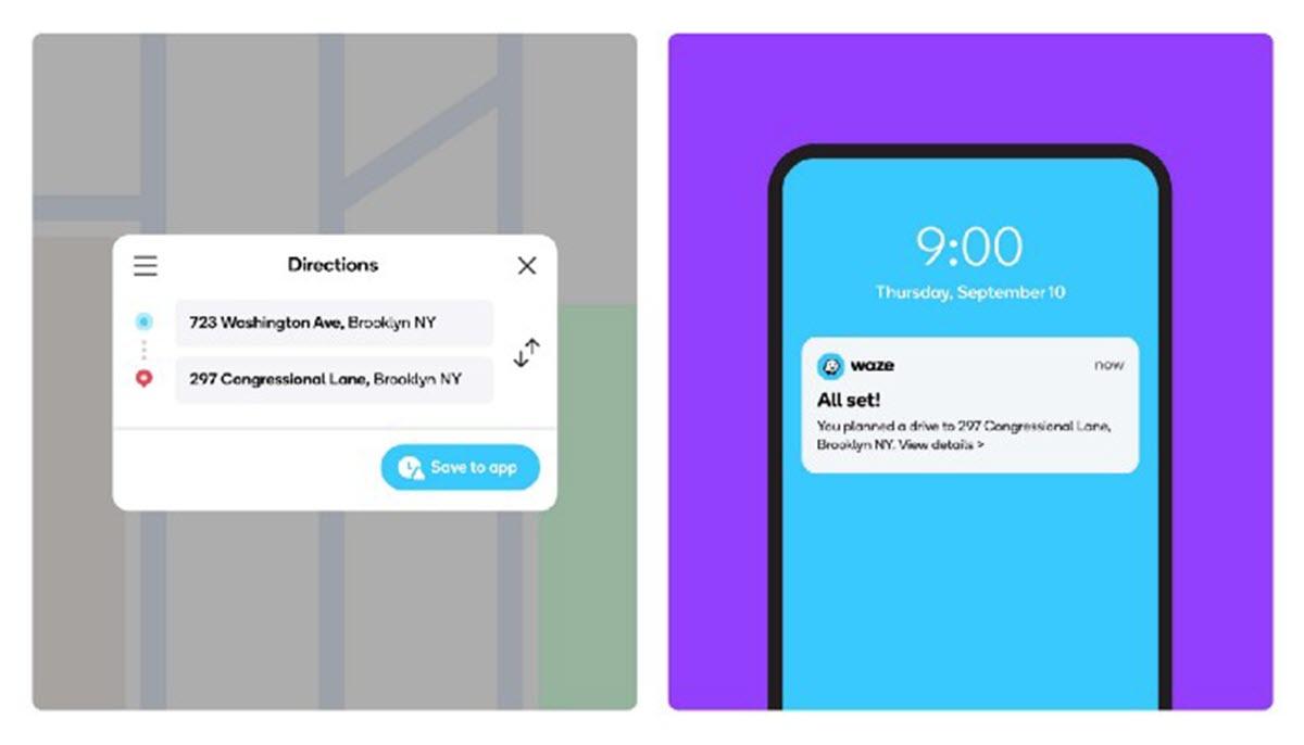 Waze ahora permite enviar indicaciones de viaje desde el ordenador al móvil
