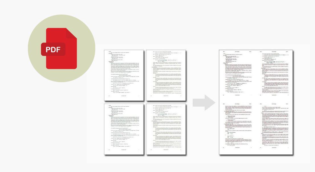 Cómo juntar varias páginas PDF en una sola página