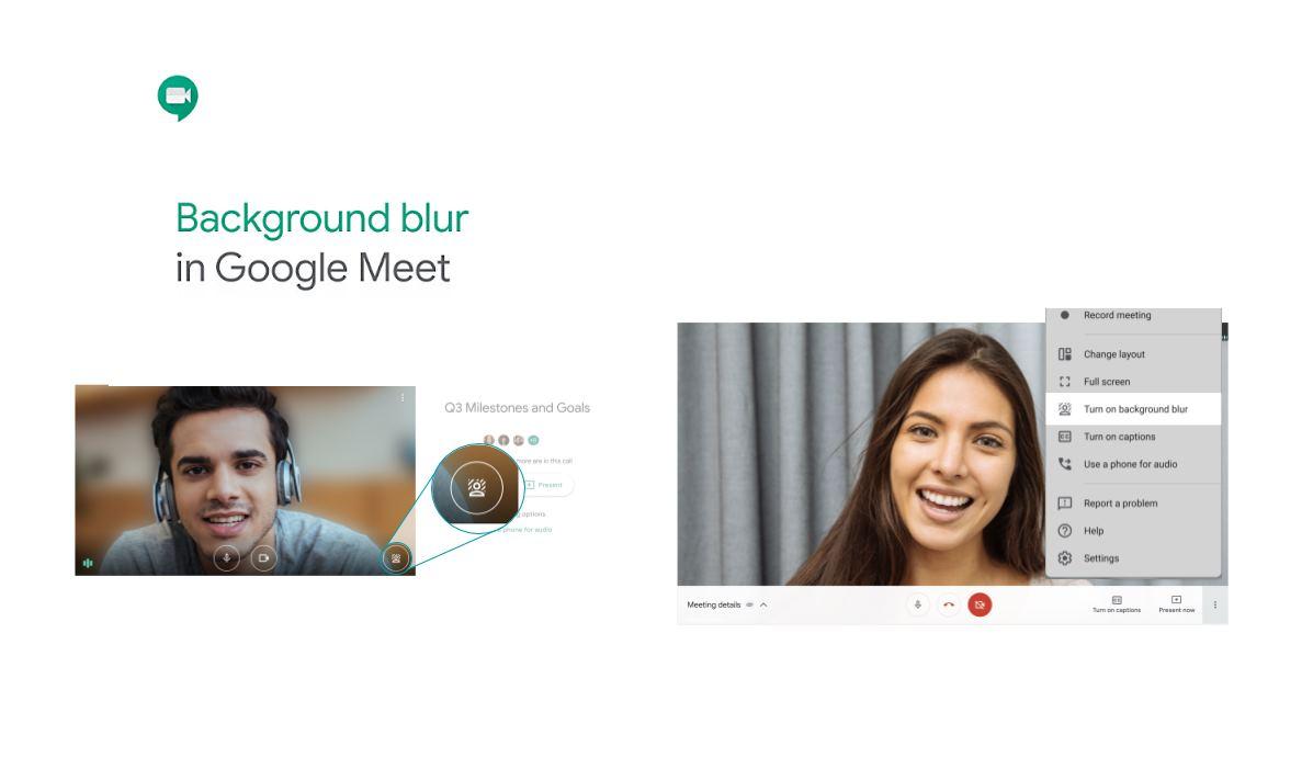 Google Meet ahora puede poner fondo desenfocado