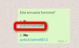 Encuesta Whatsapp