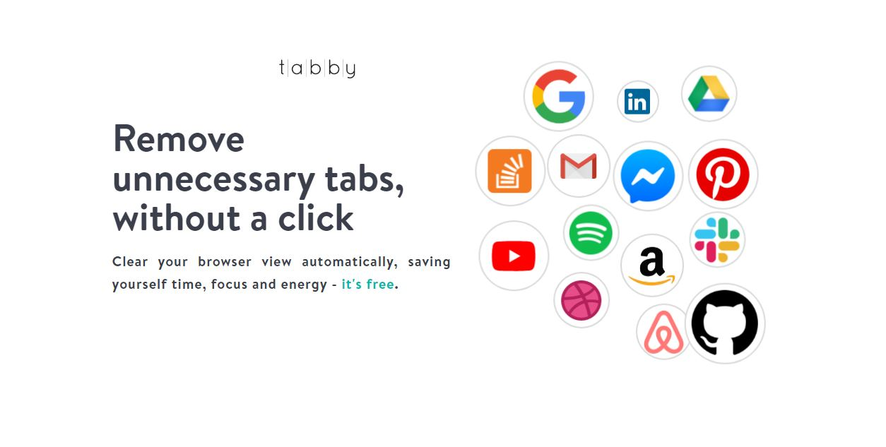 Tabby, una extensión que cerrará las pestañas del navegador por ti