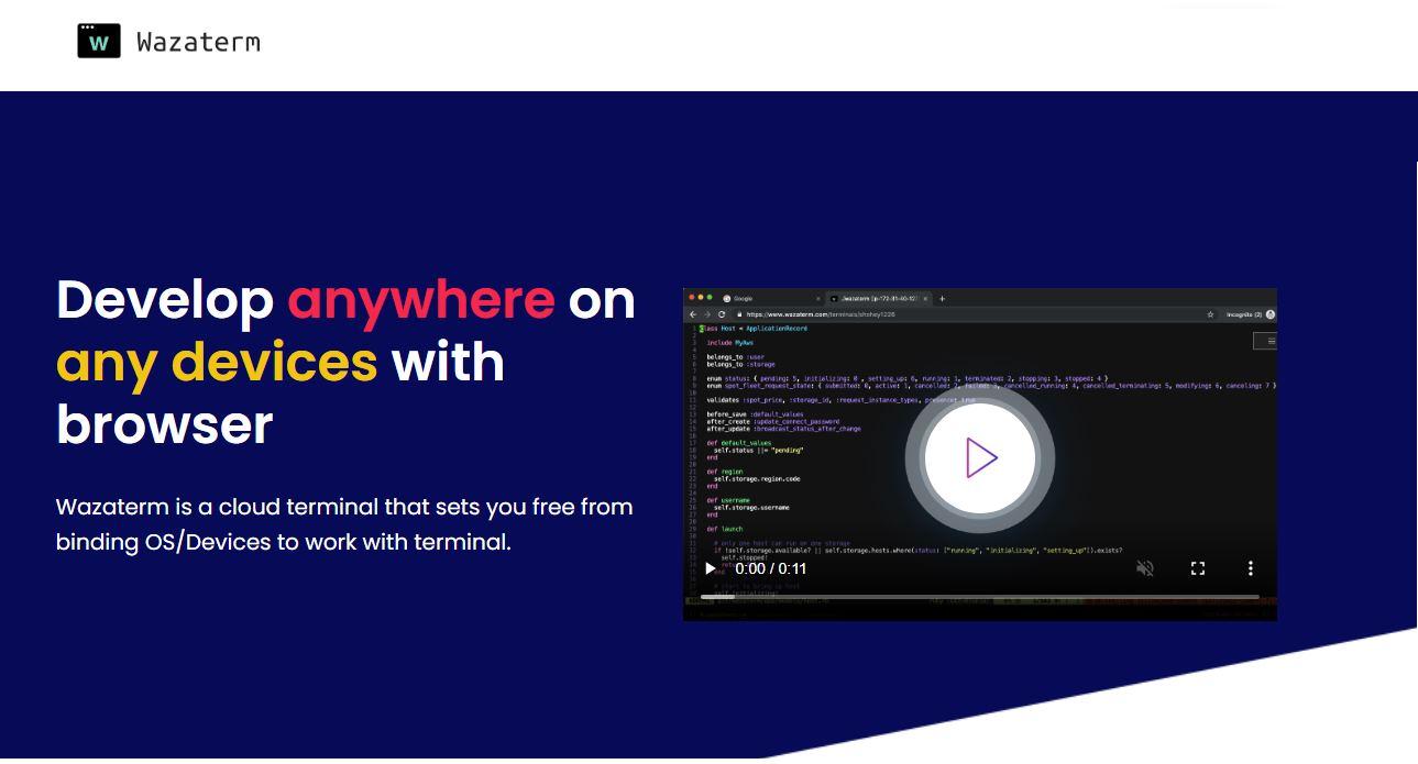 Wazaterm, un terminal Linux para acceder desde nuestro navegador web