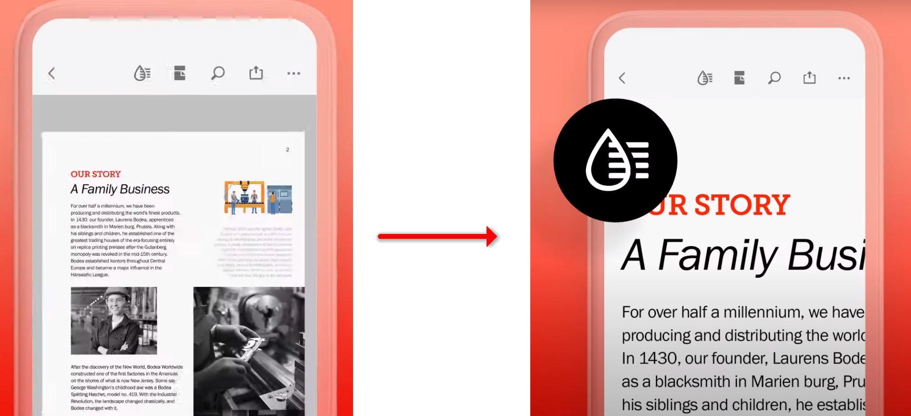 Los PDF serán más fáciles de leer en los móviles