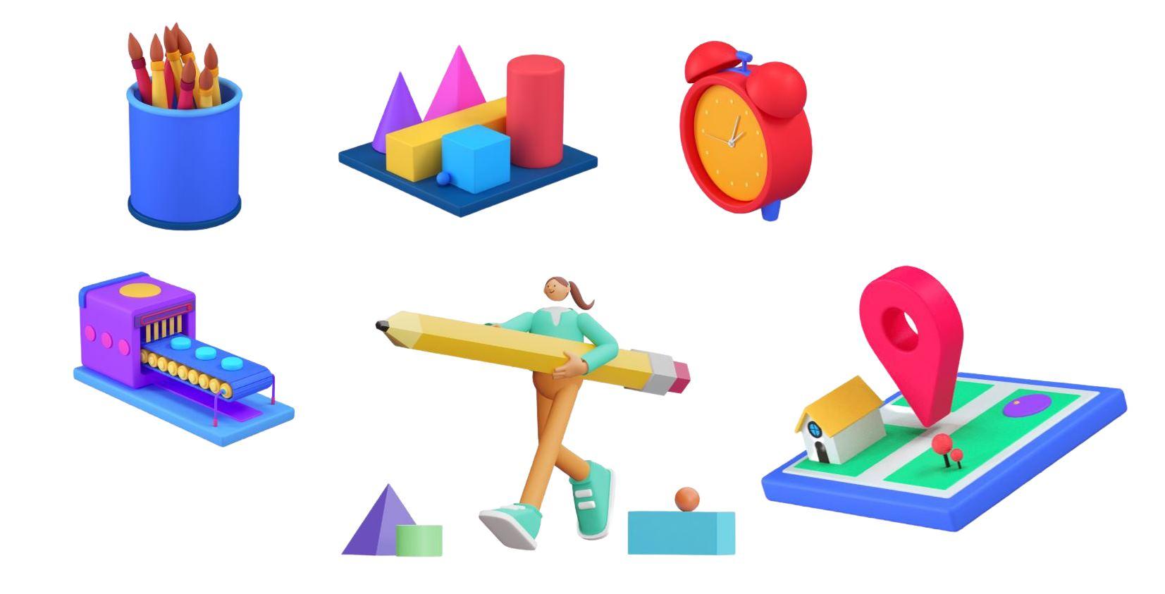 Iconos 3D gratuitos, lista de sitios para Download