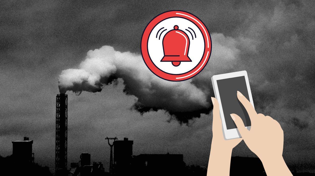 Los móviles podrán detectar la polución del aire