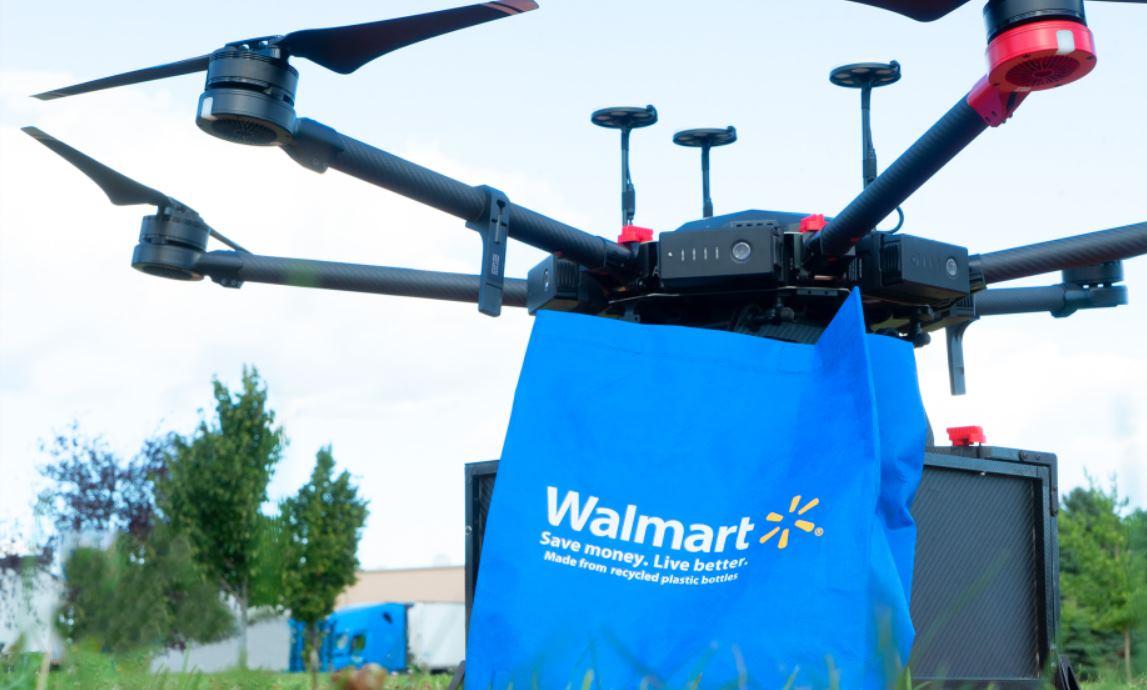 Walmart comienza a entregar compras con drones