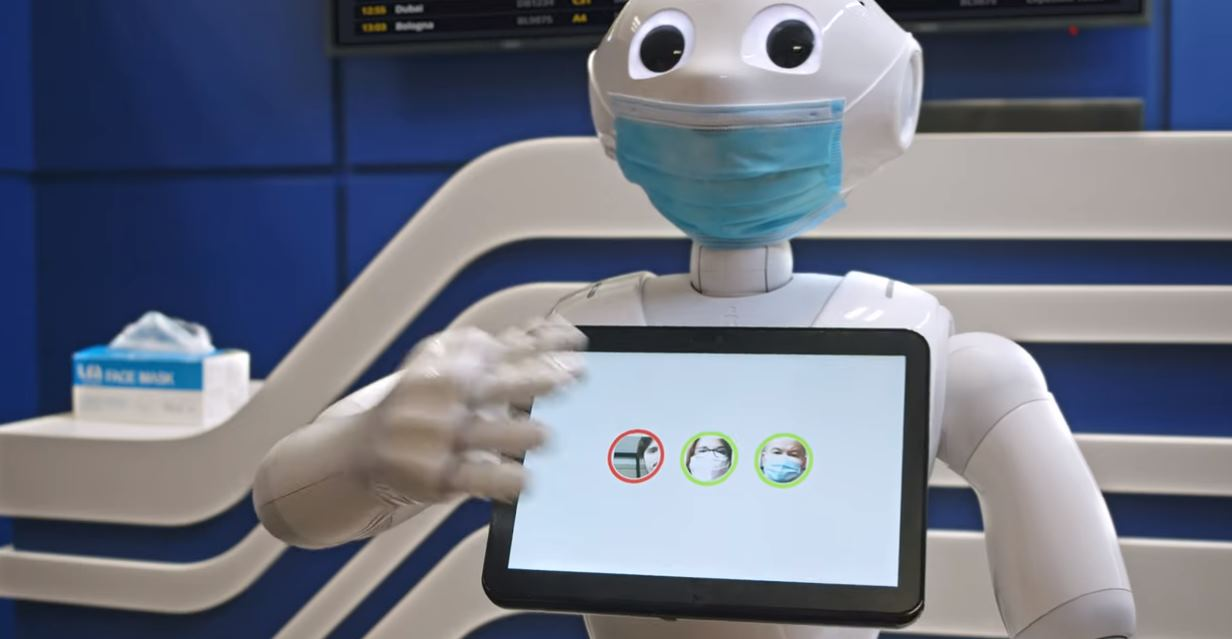 Un robot detecta si llevas o no mascarilla