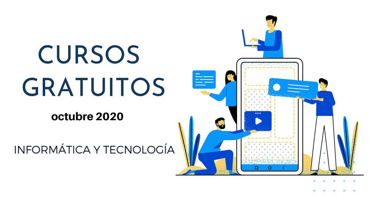 25 cursos gratuitos de tecnología para comenzar en octubre