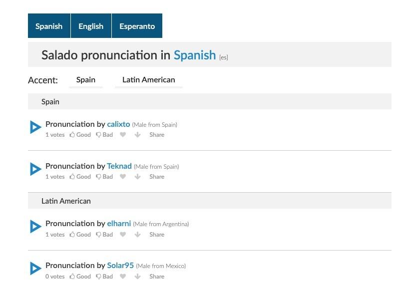 forvo sitio web de pronunciacion de palabras en diferentes idiomas