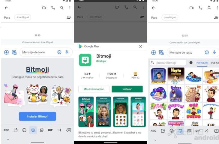 bitmoji en teclado gboard de google