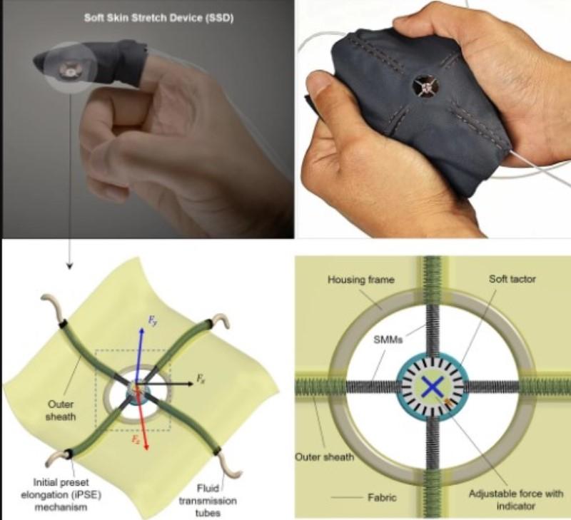 musculos artificiales para mejorar sensibilidad de guantes hapticos