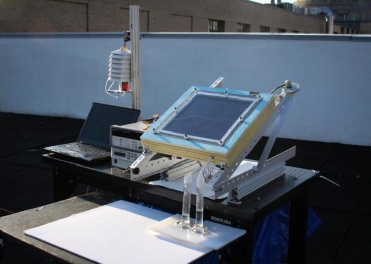 sistema para extraer agua del aire seco