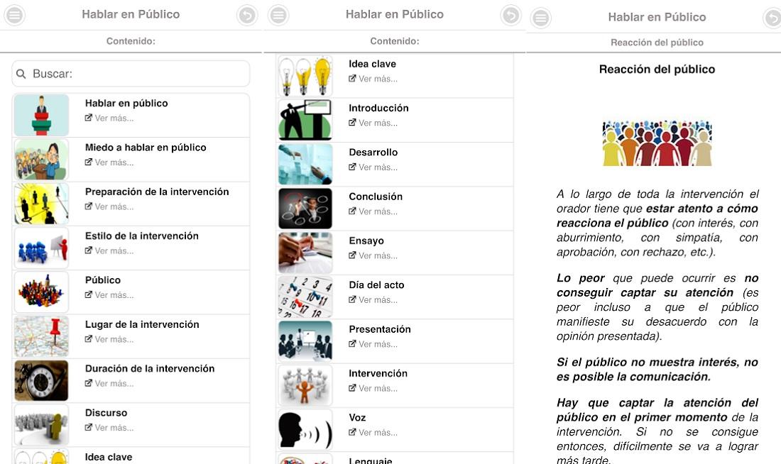 Aprender a hablar en público app