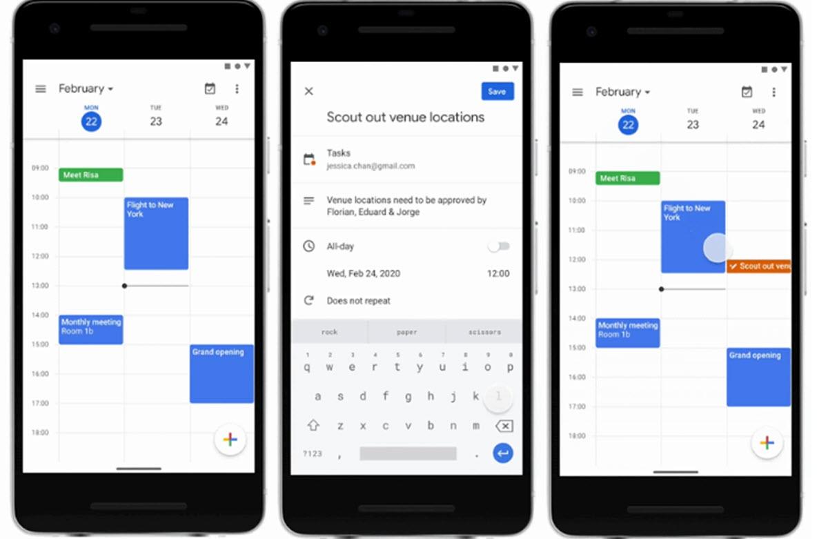 Google Calendar facilita dar seguimiento a las tareas desde el móvil