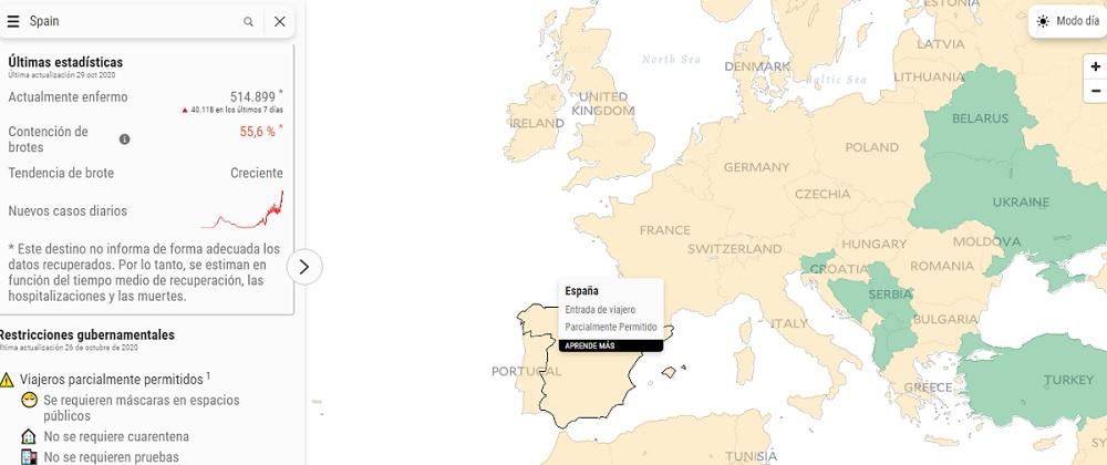Covid Controls, una web que te permite ver qué países puedes visitar actualmente y cuáles son sus restricciones