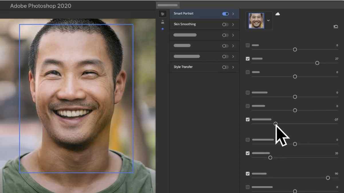 Los nuevos filtros neuronales de Photoshop pueden cambiar edad y expresión en pocos clics