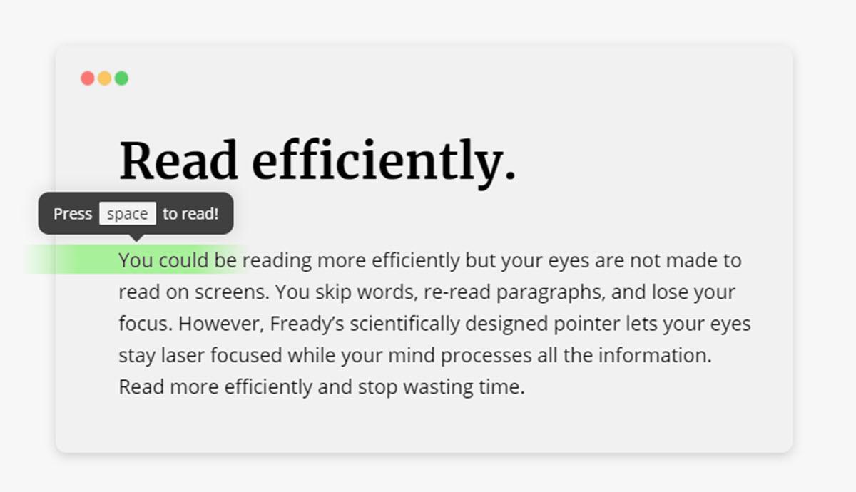 Esta herramienta te ayudará a ganar fluidez en la lectura desde el navegador web