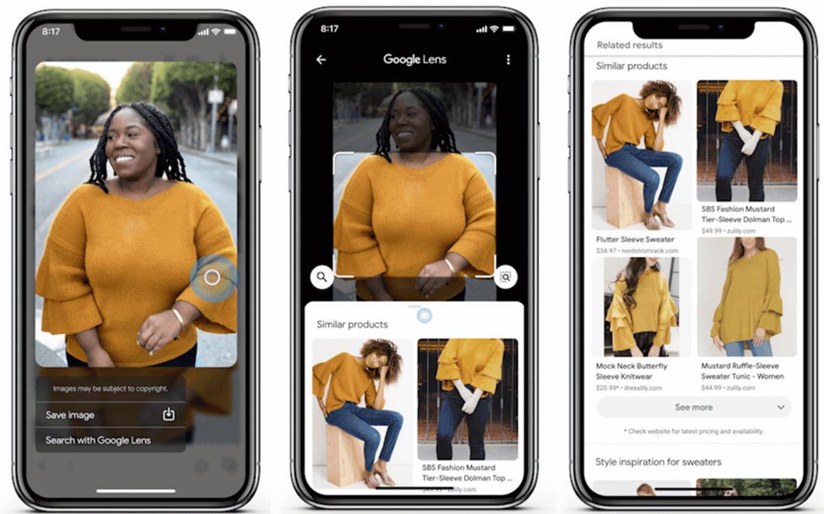 Google Lens te ofrece una nueva dinámica para las compras online