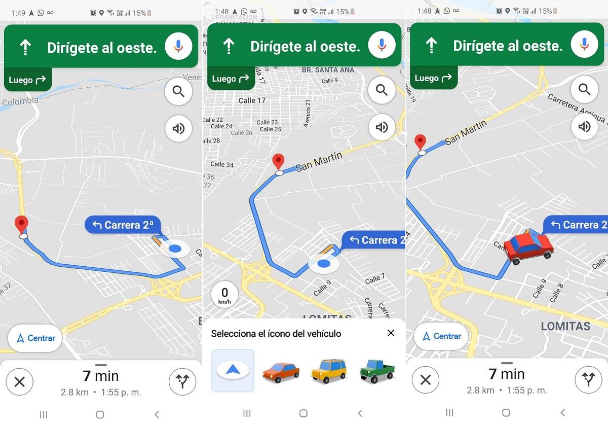 Google Maps cambiar icono