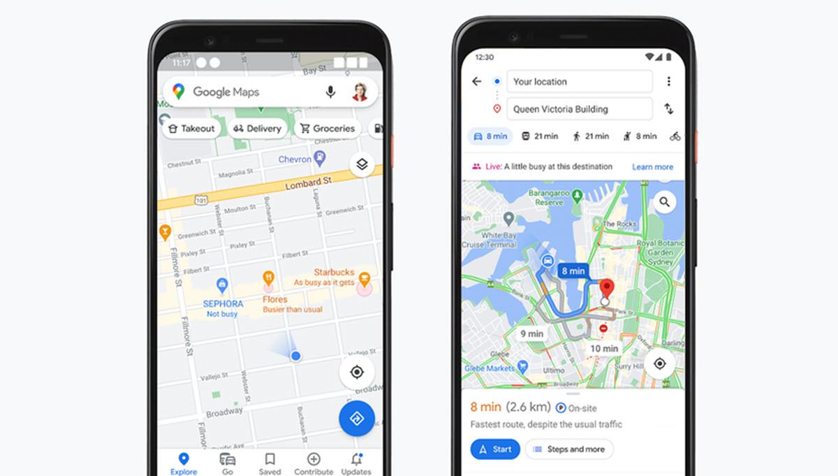 Google Maps suma funciones para evitar aglomeraciones y elegir establecimientos seguros