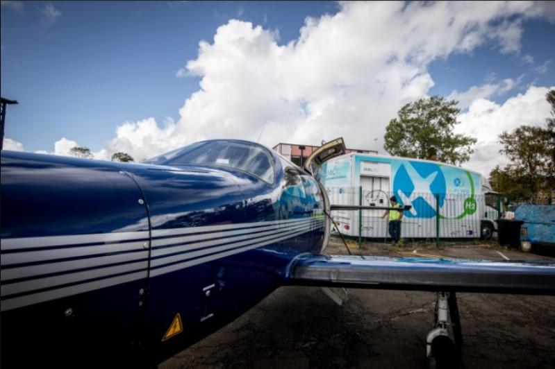 avion propulsado por hidrogeno piper m