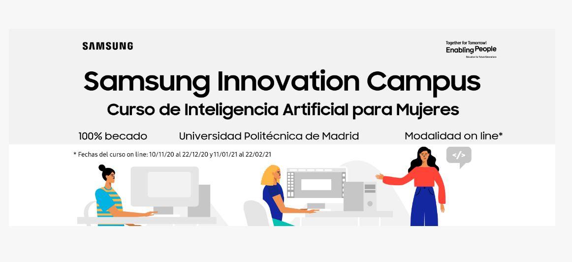 Samsung ofrece curso gratis sobre Inteligencia Artificial, para mujeres