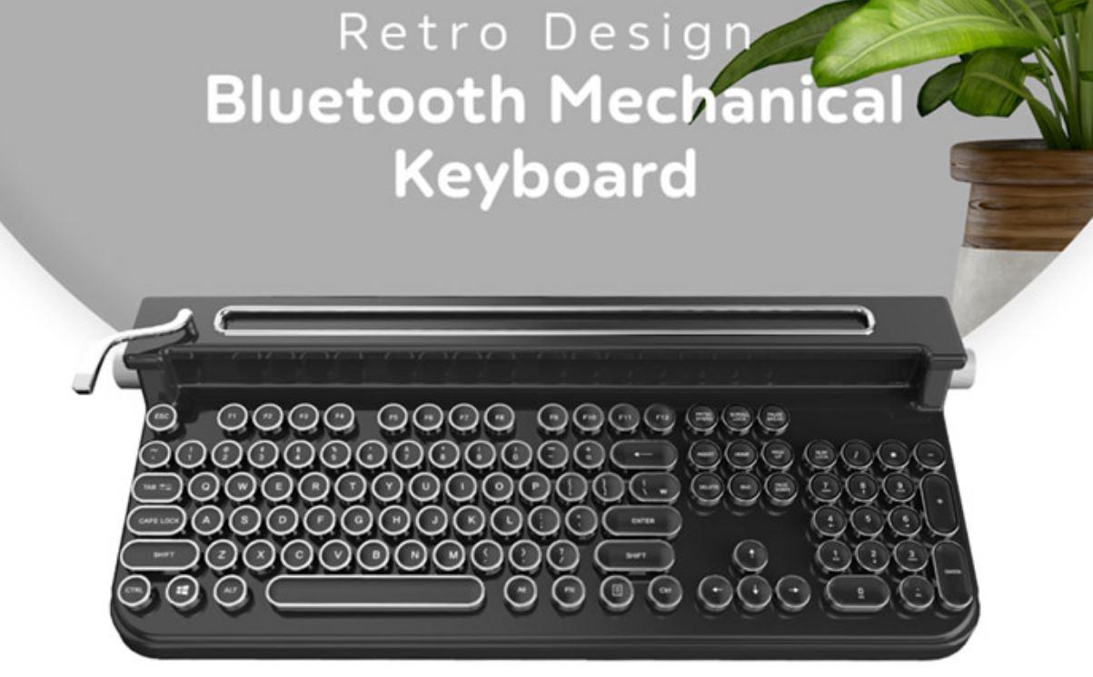 Un teclado retro lleno de sorpresas tecnológicas