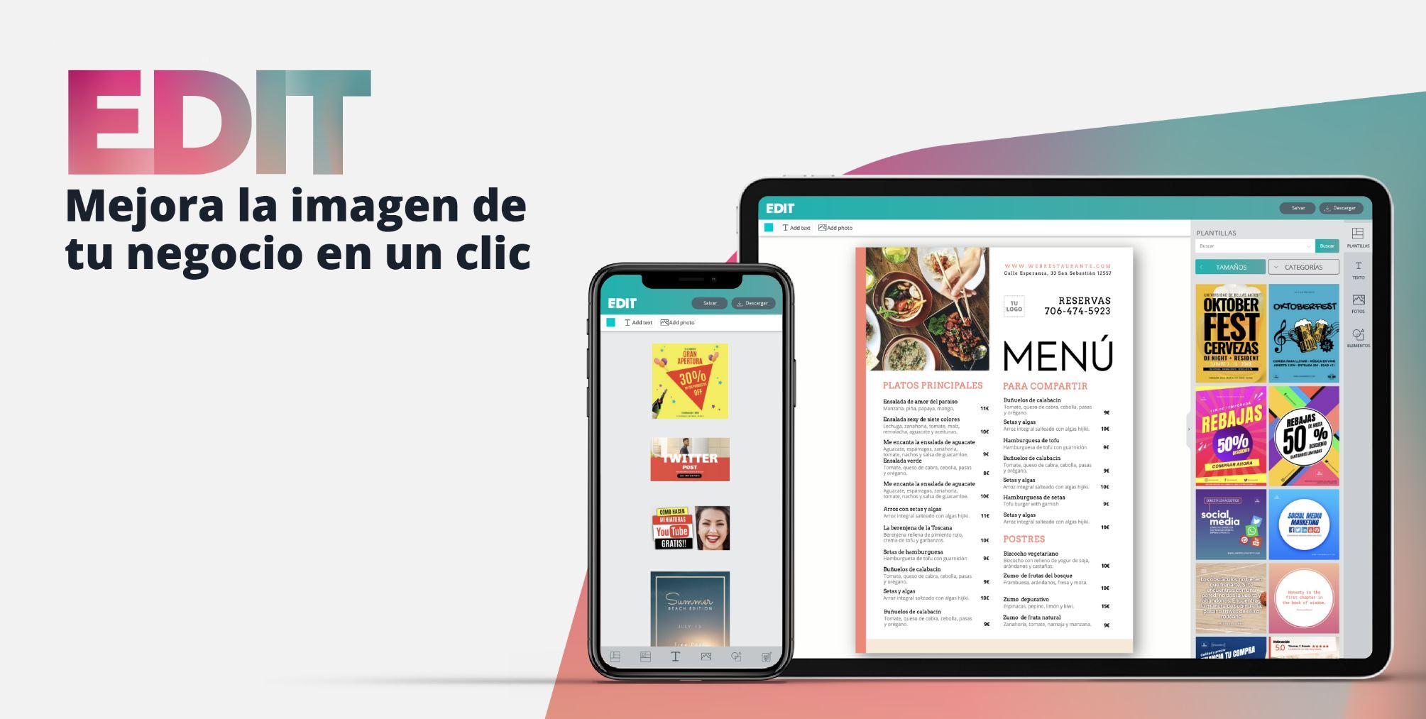 EDIT, la herramienta de diseño gráfico online gratis, cierra ronda de 250.000€