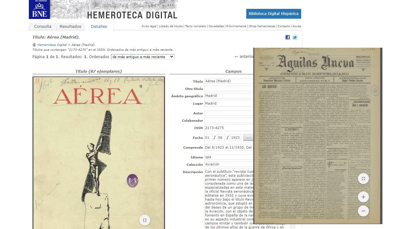 La hemeroteca digital de la Biblioteca Nacional de España, ahora gratis online