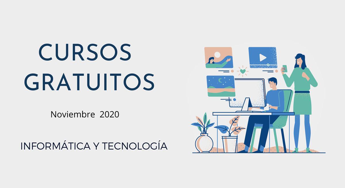 20 cursos gratuitos de tecnología para comenzar en noviembre