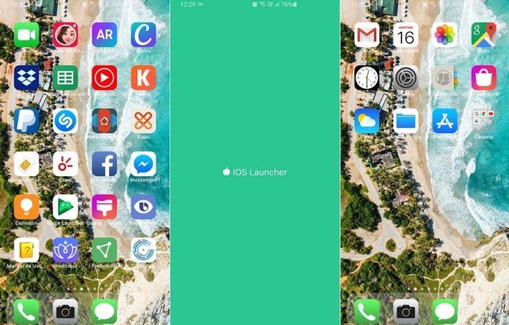 iOS 14 Launcher app en Android