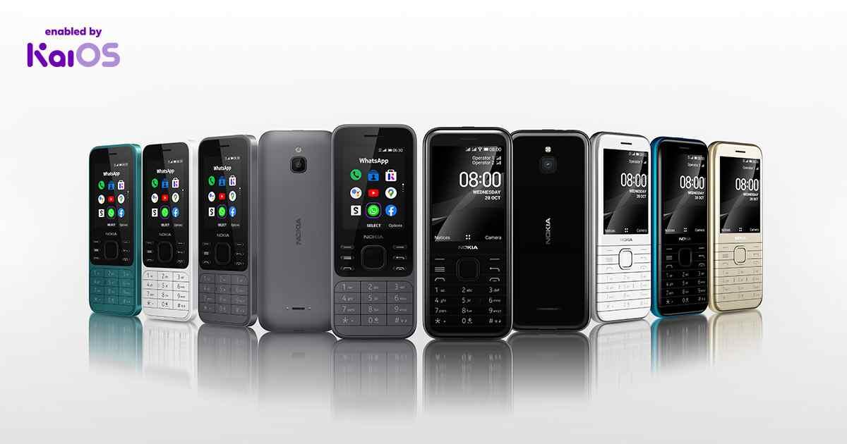Nokia 6300 4G y Nokia 8000 4G