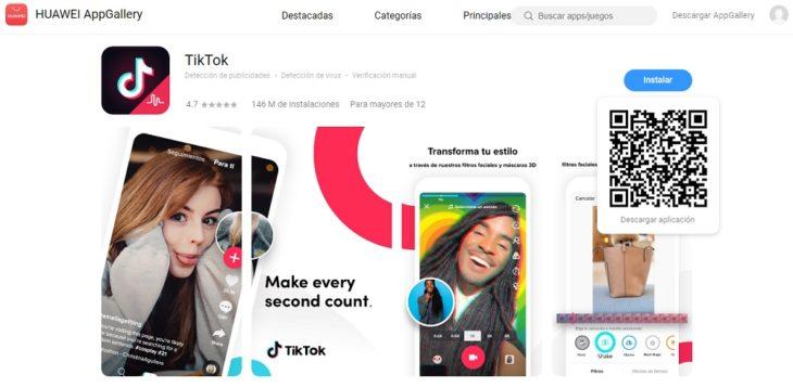 AppGallery descargar apps en smartphones Huawei