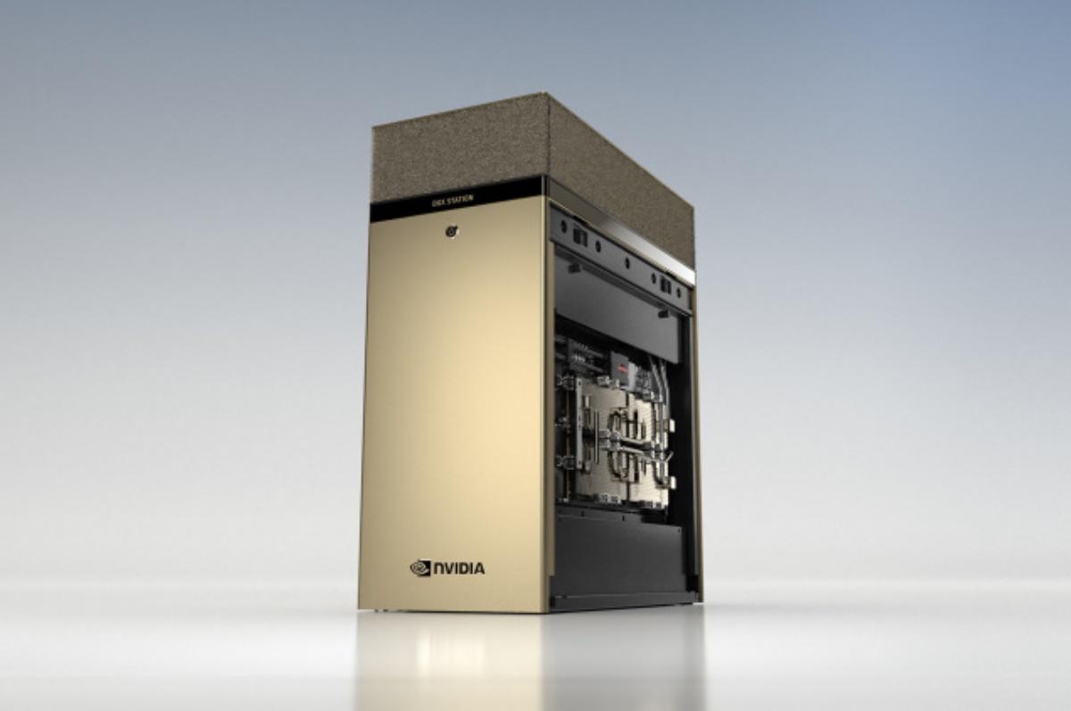 DGX A100, estación de trabajo de escritorio de NVIDIA con 4 GPU de 80 GB