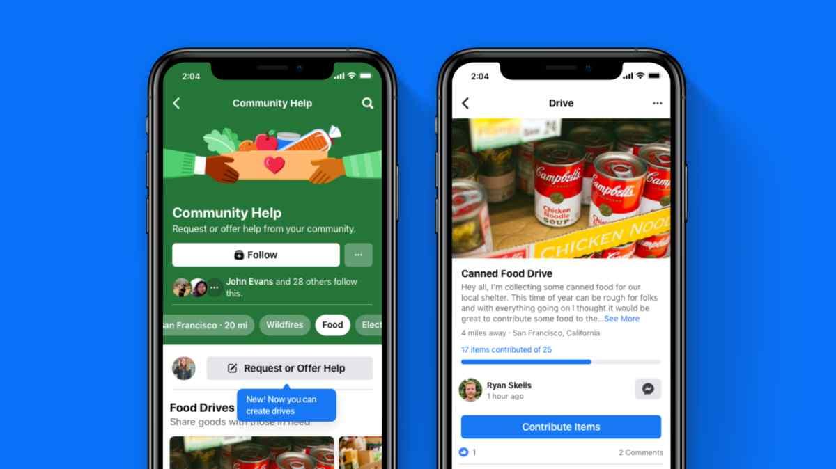 Facebook lanzará función para la recaudación de elementos para personas necesitadas