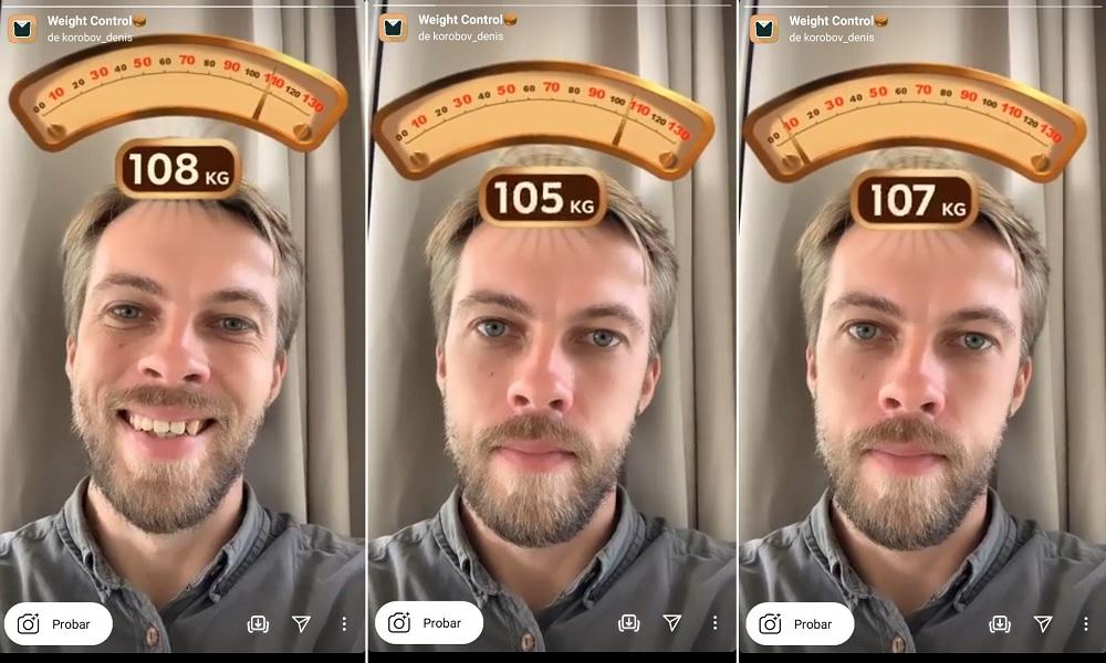 Filtro de Instagram para conocer peso