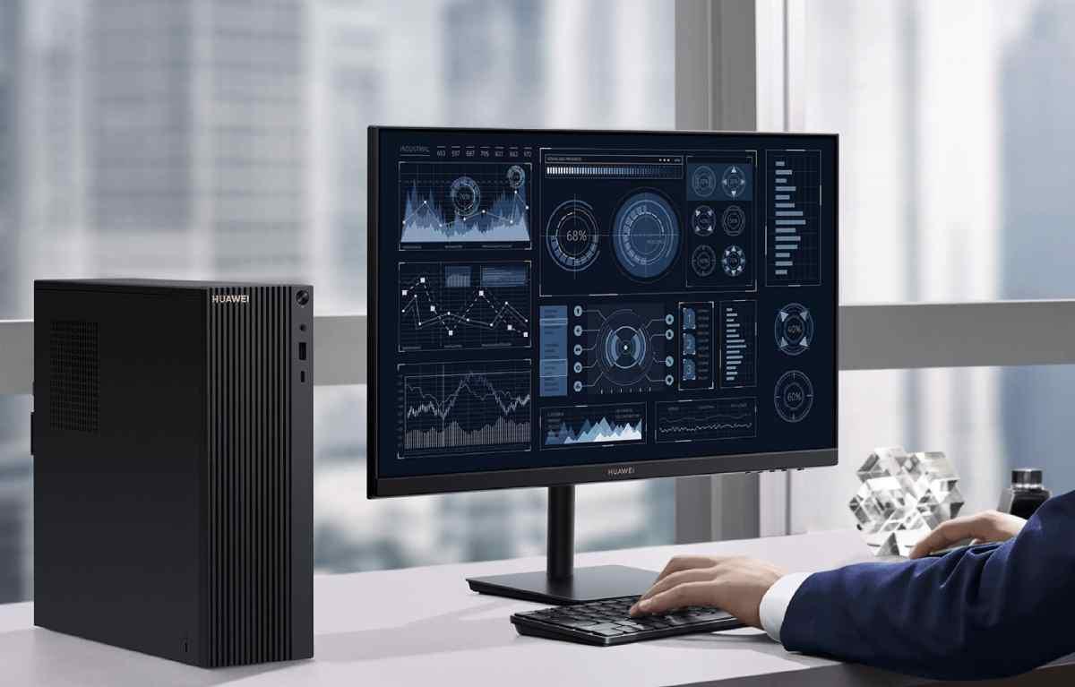 Así es el primer PC de escritorio de Huawei