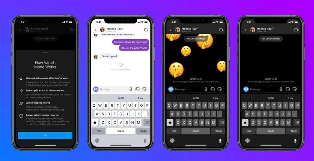 Instagram y Facebook Messenger ya permiten enviar mensajes que desaparecen