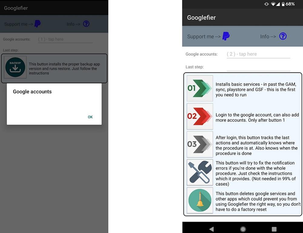 Instalar Googlefier en moviles Huawei