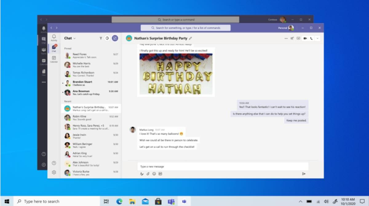 Nuevas funciones de Microsoft Teams para uso personal llegan a la versión de escritorio