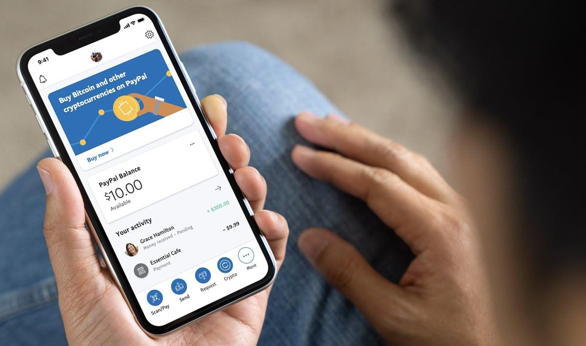 PayPal ya permite comprar y vender criptomonedas desde la app