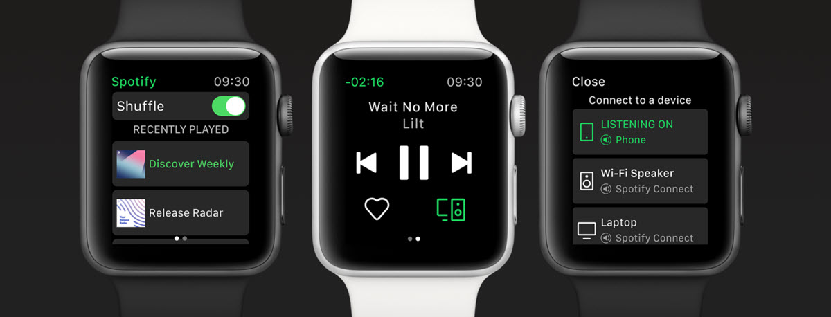 Spotify para Apple Watch