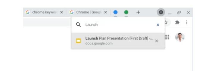 buscador de pestañas Google Chrome