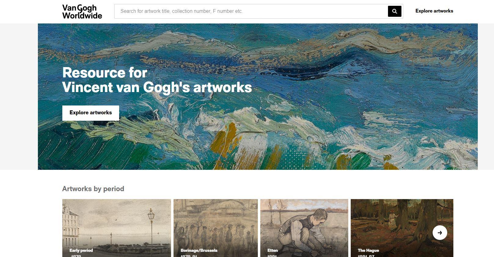 Publican más de mil obras de Van Gogh en formato digital por primera vez