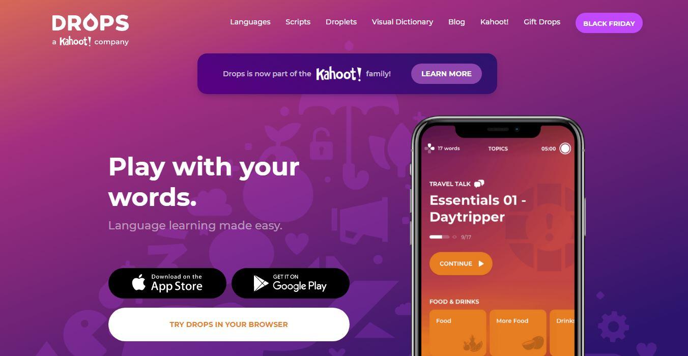 Kahoot compra Drops, creador de juegos móviles para el aprendizaje de idiomas