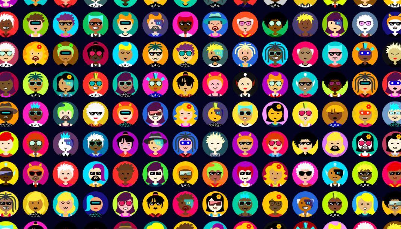Un programa que genera millones de avatares aleatorios