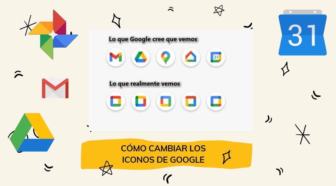 Cómo recuperar los iconos anteriores de Gmail, Google Drive y demás